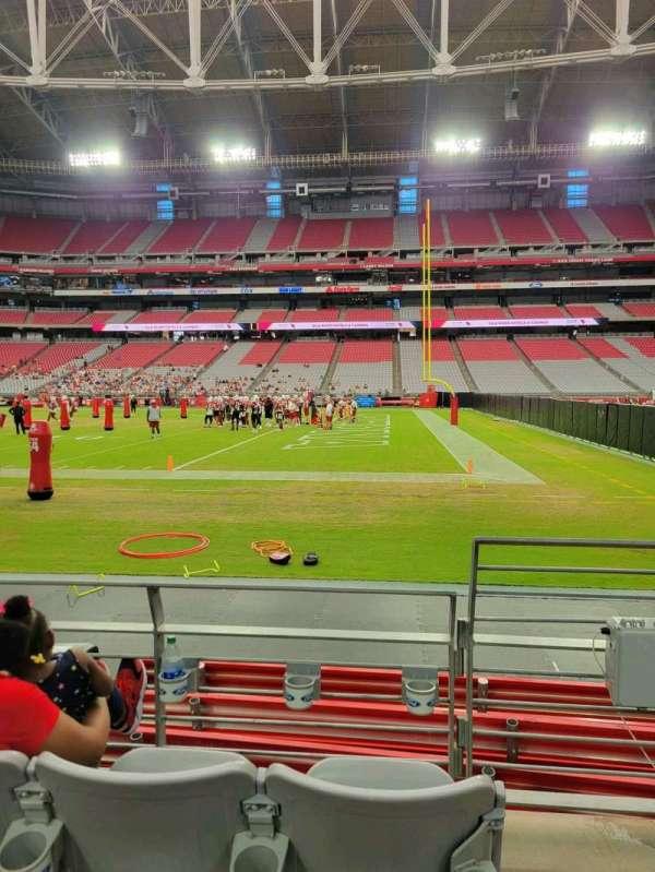 State Farm Stadium, section: 129, row: 3, seat: 1
