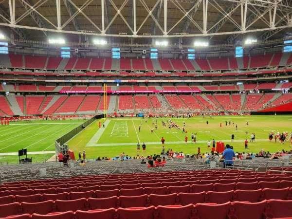 State Farm Stadium, section: 109, row: 34, seat: 10