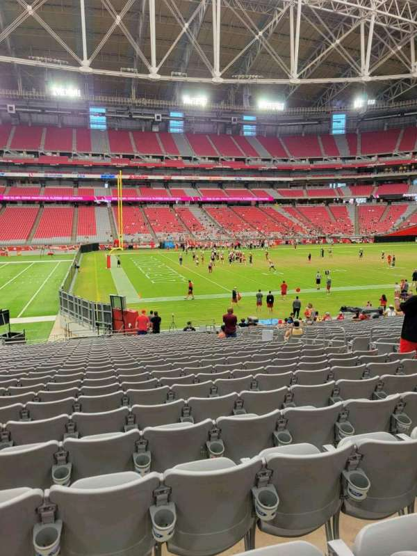 State Farm Stadium, section: 110, row: 25, seat: 10