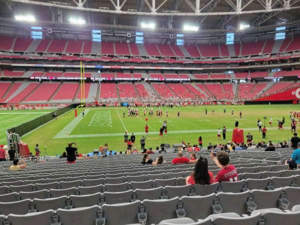 State Farm Stadium, section: 109, row: 23, seat: 10