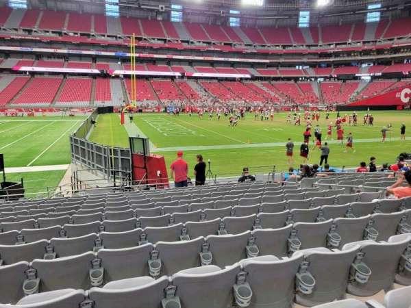 State Farm Stadium, section: 110, row: 13, seat: 10