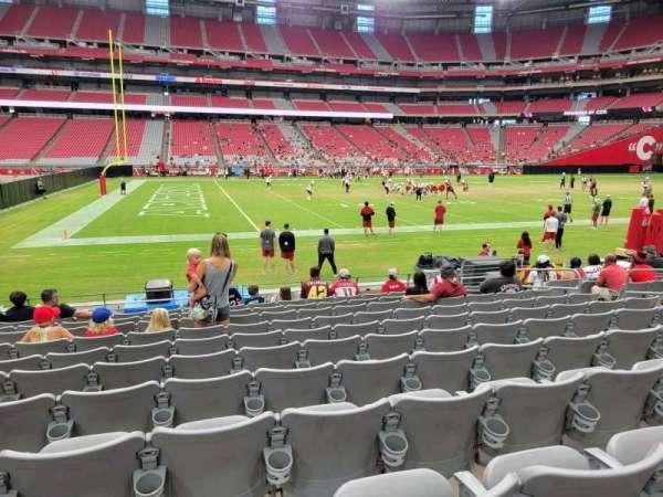 State Farm Stadium, section: 109, row: 11, seat: 11