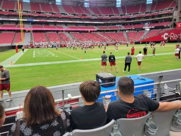 State Farm Stadium, section: 109, row: 3, seat: 17
