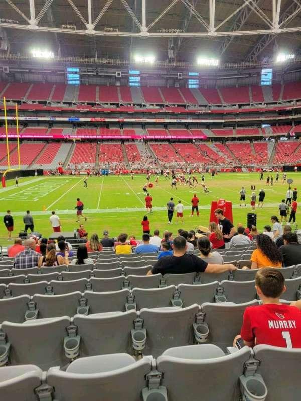 State Farm Stadium, section: 108, row: 13, seat: 13