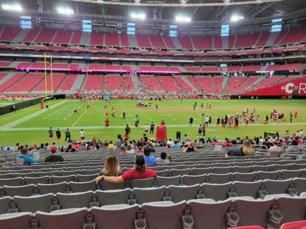 State Farm Stadium, section: 108, row: 25, seat: 12