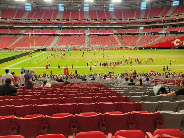 State Farm Stadium, section: 107, row: 37, seat: 11