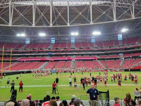 State Farm Stadium, section: 107, row: 8, seat: 1