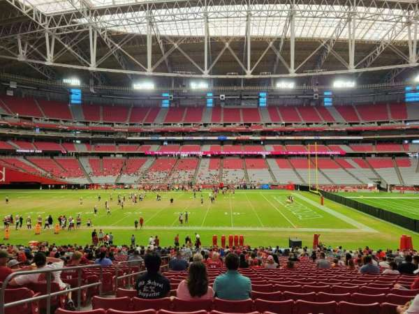 State Farm Stadium, section: 130, row: 35, seat: 15