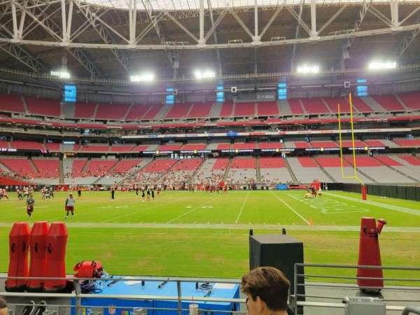 State Farm Stadium, section: 130, row: 4, seat: 1