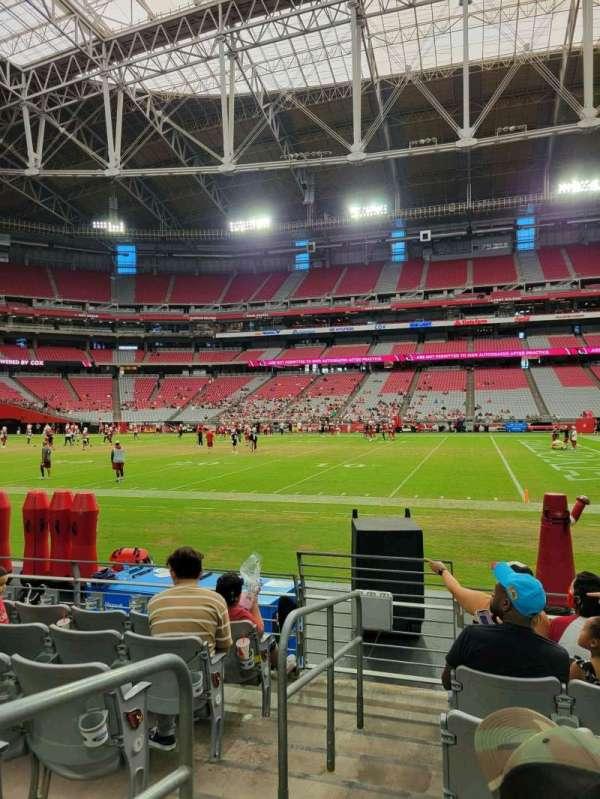 State Farm Stadium, section: 129, row: 6, seat: 18