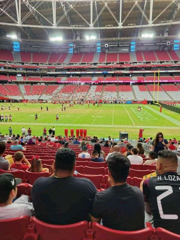 State Farm Stadium, section: 130, row: 25, seat: 3