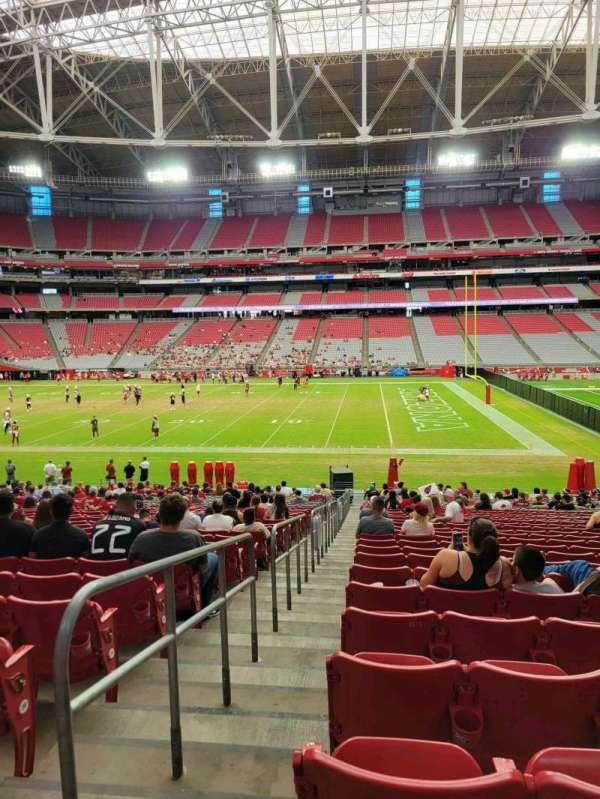 State Farm Stadium, section: 129, row: 29, seat: 18