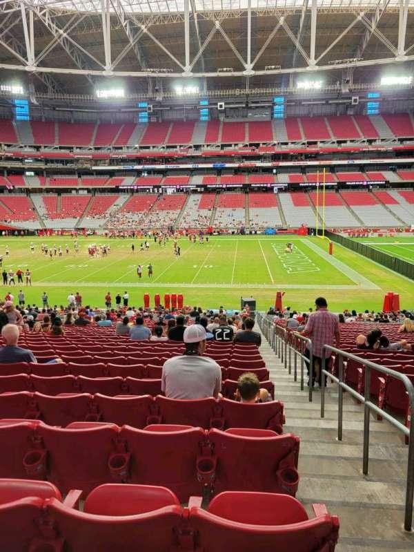 State Farm Stadium, section: 130, row: 34, seat: 1