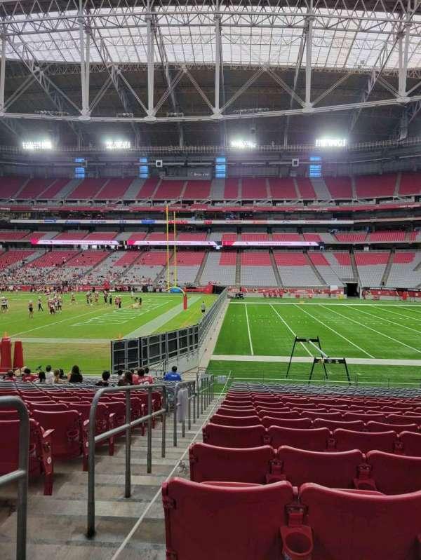 State Farm Stadium, section: 127, row: 18, seat: 18