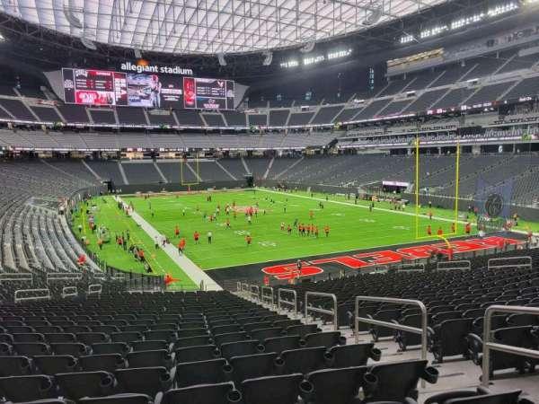Allegiant Stadium, section: 104, row: 34, seat: 4