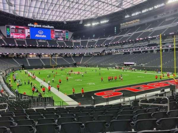 Allegiant Stadium, section: 104, row: 20, seat: 8