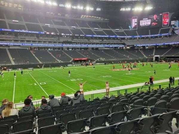 Allegiant Stadium, section: 116, row: 10, seat: 6