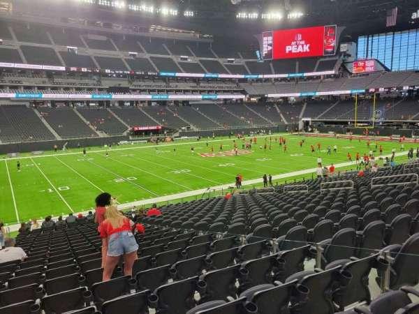Allegiant Stadium, section: 116, row: 25, seat: 6