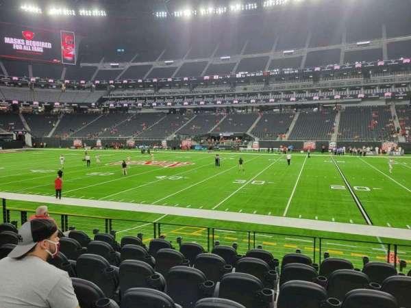 Allegiant Stadium, section: C132, row: 7, seat: 7