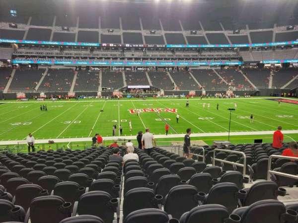 Allegiant Stadium, section: C135, row: 23, seat: 4