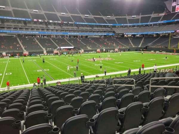 Allegiant Stadium, section: C137, row: 17, seat: 7