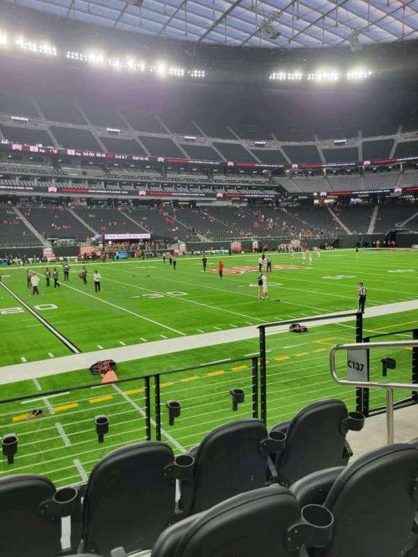 Allegiant Stadium, section: C137, row: 4, seat: 4