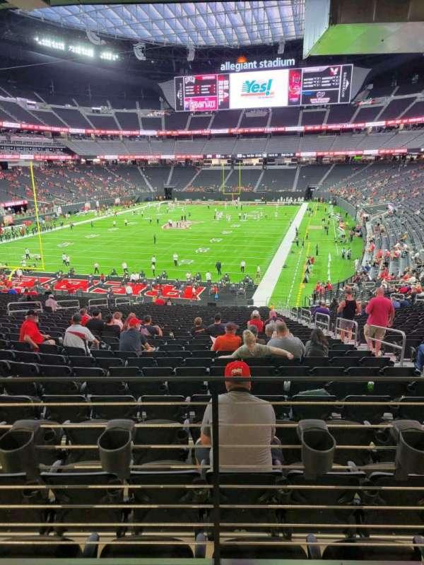 Allegiant Stadium, section: 143, row: 37A, seat: 5