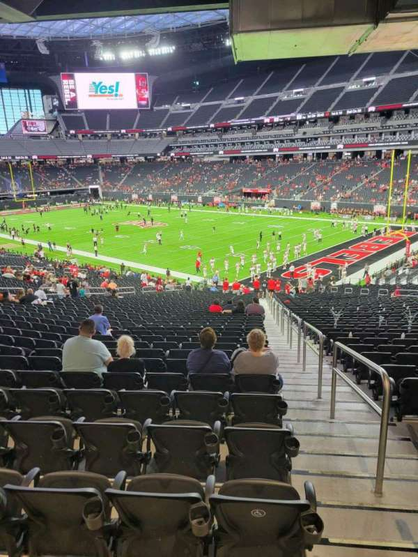 Allegiant Stadium, section: 128, row: 38, seat: 1
