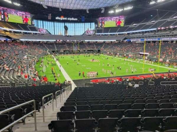 Allegiant Stadium, section: 125, row: 35, seat: 23