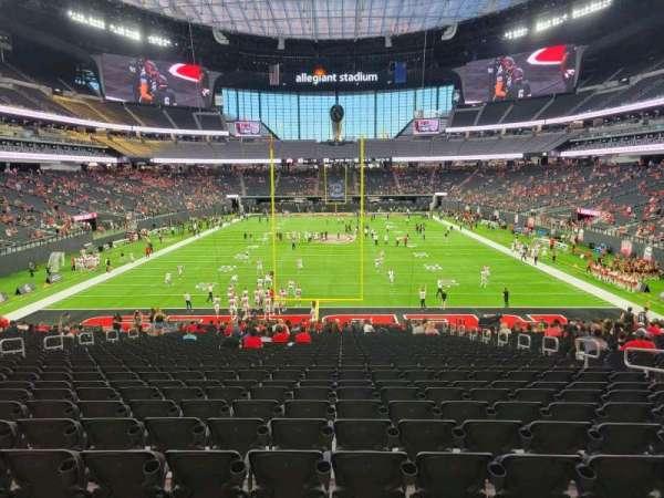 Allegiant Stadium, section: 123, row: 31, seat: 9