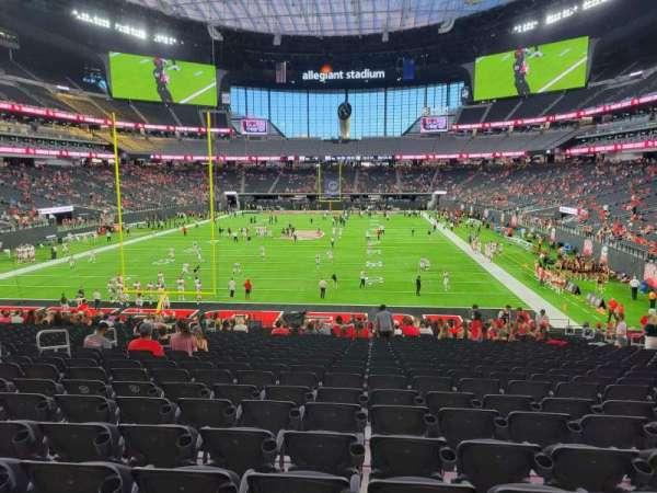 Allegiant Stadium, section: 122, row: 27, seat: 14