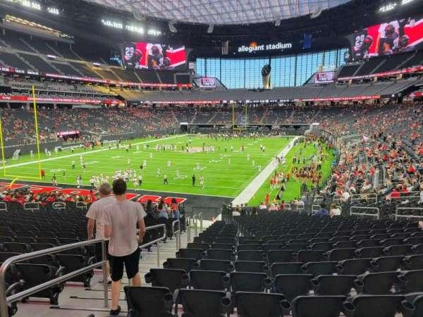 Allegiant Stadium, section: 120, row: 29, seat: 20