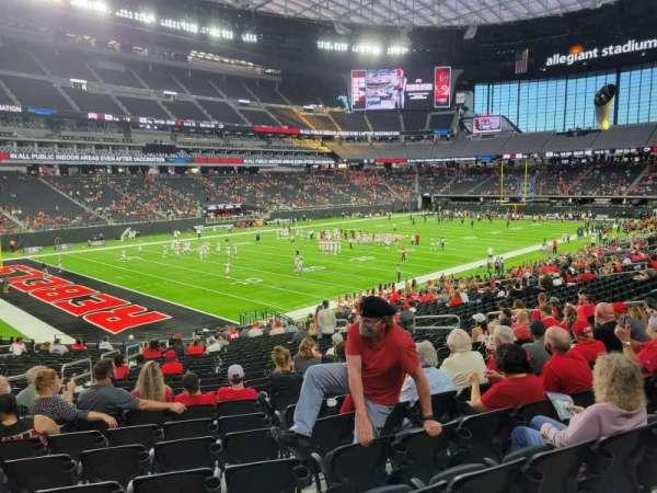 Allegiant Stadium, section: 118, row: 26, seat: 17