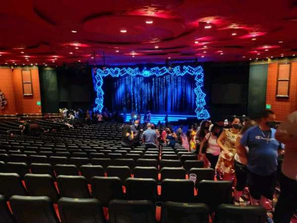 The Mirage Theatre, section: 102, row: O, seat: 28