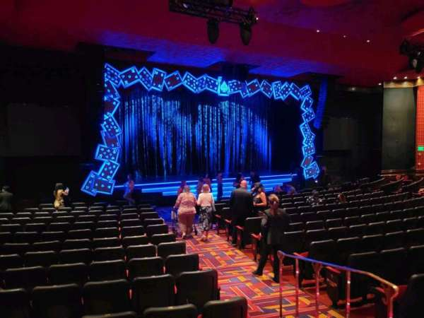 The Mirage Theatre, section: 101, row: D, seat: 17
