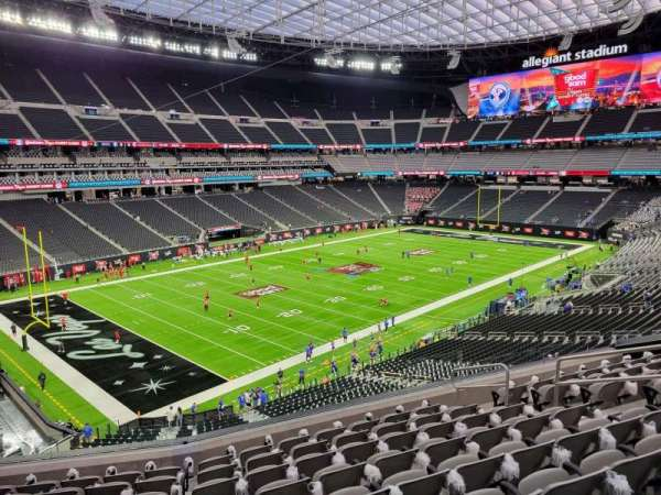 Allegiant Stadium, section: 243, row: 9, seat: 9