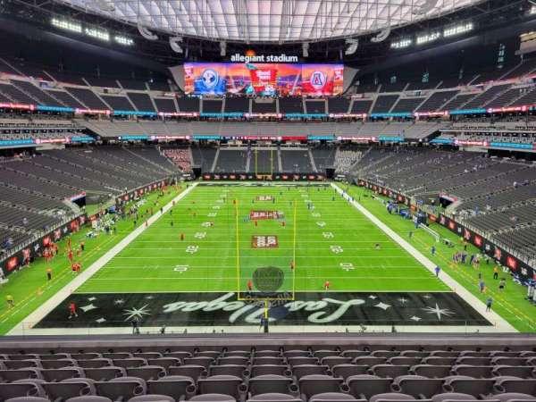 Allegiant Stadium, section: 201, row: 9, seat: 13