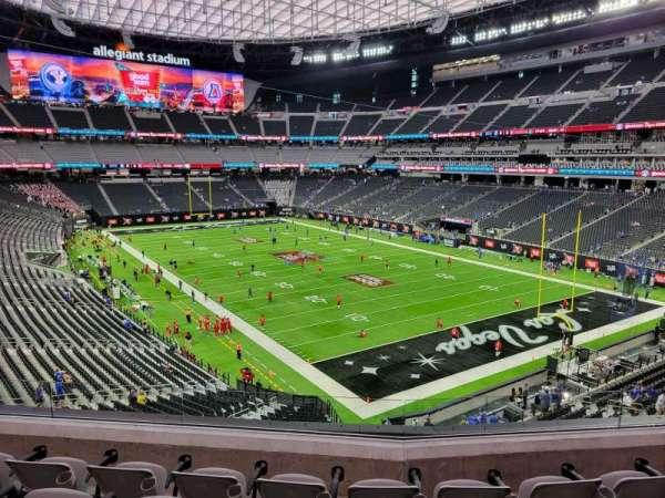 Allegiant Stadium, section: 205, row: 5, seat: 10