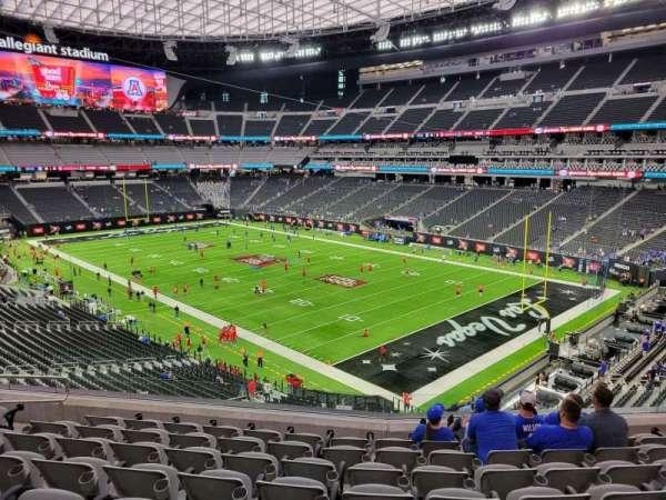 Allegiant Stadium, section: 206, row: 8, seat: 10