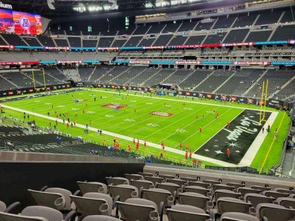 Allegiant Stadium, section: 208, row: 8, seat: 5