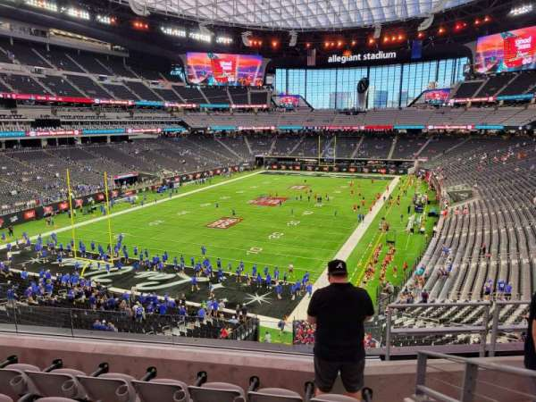 Allegiant Stadium, section: 222, row: 5, seat: 10