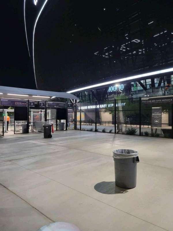 Allegiant Stadium, section: Caesars rewards East vip entry