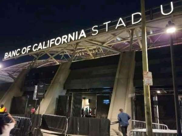 Banc of California Stadium, section: north gate