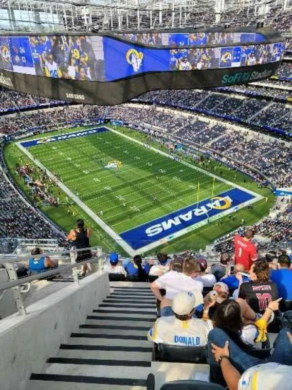 Sofi Stadium, section: 525, row: 8, seat: 10