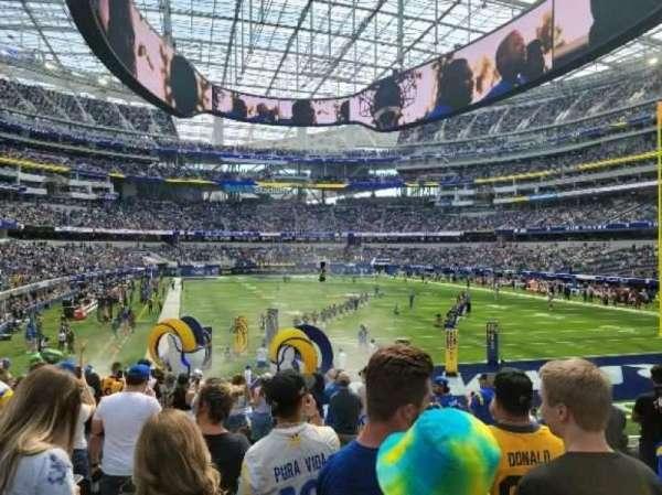 SoFi Stadium, section: 100, row: 11, seat: 2