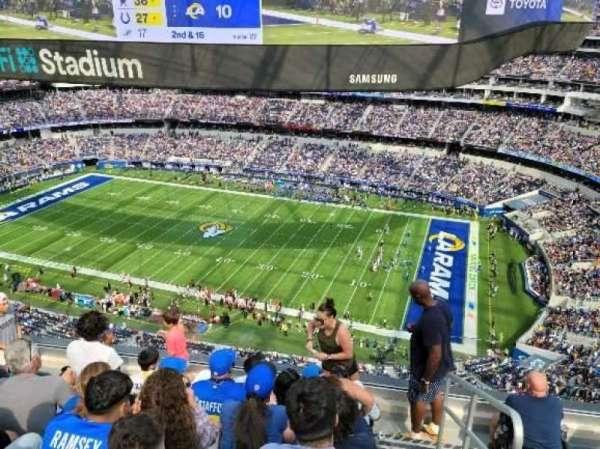 SoFi Stadium, section: 419, row: 5, seat: 1