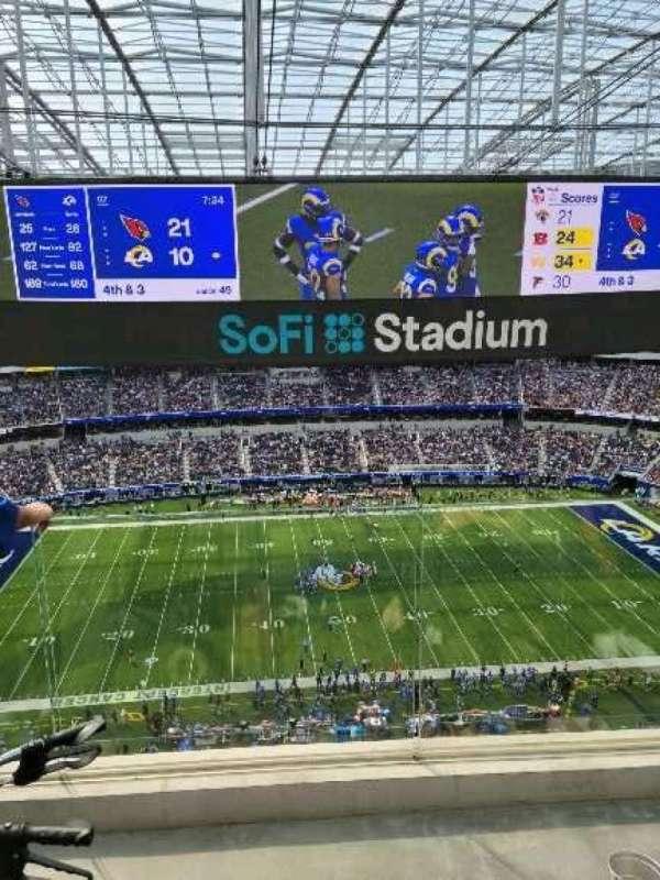 SoFi Stadium, section: 443, row: 4, seat: 14