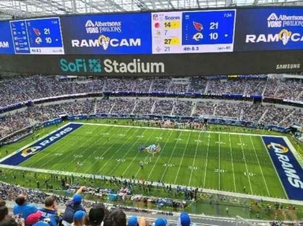 SoFi Stadium, section: 446, row: 5, seat: 1