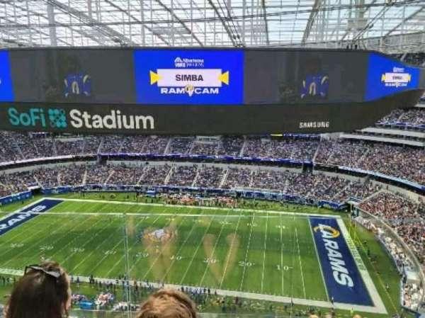 SoFi Stadium, section: 447, row: 4, seat: 7