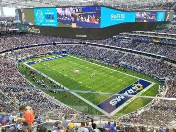 SoFi Stadium, section: 548, row: 1, seat: 1